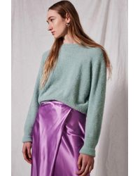TOPSHOP - Feather Knitted Jumper By Boutique - Lyst