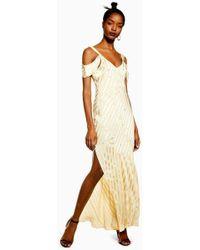TOPSHOP - Diamante Maxi Slip Dress - Lyst