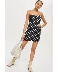 TOPSHOP - Square Neck Mini Slip Dress - Lyst