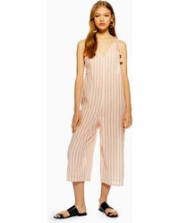 58b7f623e6f Lyst - TOPSHOP Lux Shine Vest Jumpsuit in Yellow