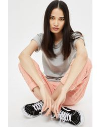 TOPSHOP - Roll Sleeve T-shirt - Lyst