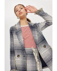 TOPSHOP   Boucle Fringe Jacket   Lyst