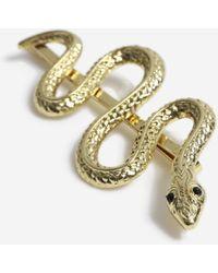 TOPSHOP Snake Slide Clips - Metallic