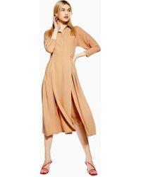 8edc1a2f14e TOPSHOP Maternity Check Shirt Dress in Black - Lyst