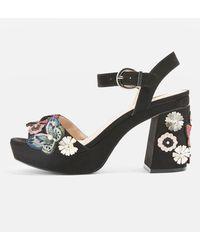TOPSHOP - Laney Embellished Platform Sandals - Lyst