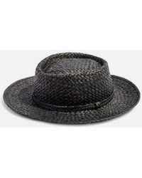 TOPSHOP - Straw Flat Top Hat - Lyst