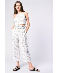 Glamorous - belted Floral Trousers By - Lyst