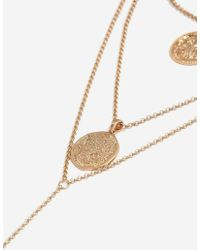 TOPSHOP - Coin Multi-row Necklace - Lyst