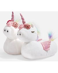 TOPSHOP Unicorn Slippers - Pink