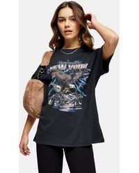 TOPSHOP - Downtown Eagle T-shirt - Lyst