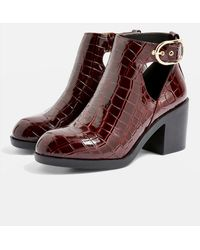 TOPSHOP - wide Fit Berlin Ankle Boots - Lyst