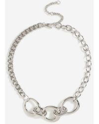TOPSHOP - chain Link Collar Necklace - Lyst