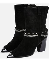 TOPSHOP - Hince High Ankle Chain Boots - Lyst