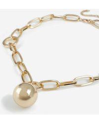 TOPSHOP chunky Ball Pendant Necklace - Metallic