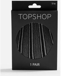 TOPSHOP - Linear Pattern Tights - Lyst