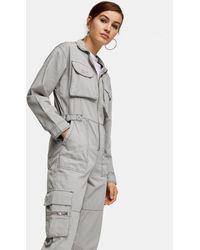 TOPSHOP Gray Utility Boiler Suit