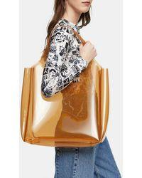 TOPSHOP Jelly Camel Tote Bag - Natural