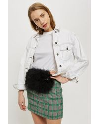 TOPSHOP - Frizzie Marabou Bumbag - Lyst