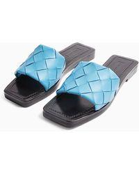 TOPSHOP Penelope Blue Woven Sandals