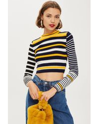 TOPSHOP - Tall Cropped Jumper - Lyst