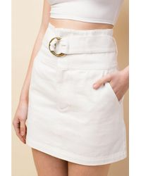 Honey Punch - Denim Skirt By - Lyst