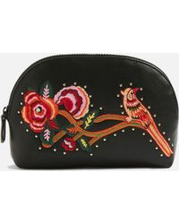 TOPSHOP - Bird Embroidered Makeup Bag - Lyst