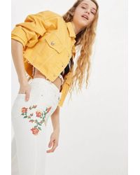 TOPSHOP - Embroidered Jamie Jeans - Lyst
