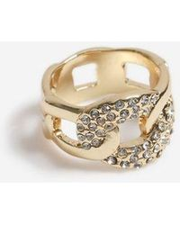 TOPSHOP - Crystal Curb Chain Ring - Lyst