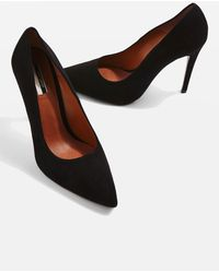 TOPSHOP - Glorious Setback Leather Shoes - Lyst