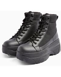 TOPSHOP Kalipso Black Chunky Boots