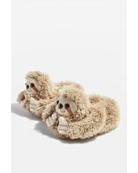 TOPSHOP - Sloth Slippers - Lyst