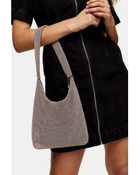 TOPSHOP Debbie Diamante Shoulder Bag - Multicolour