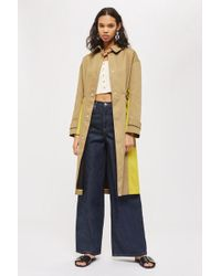 TOPSHOP - Colour Block Trench - Lyst