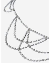 TOPSHOP - crystal Cup Chain Belly Chain - Lyst