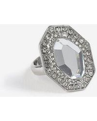 TOPSHOP - Octagon Stone Ring - Lyst