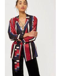 Y.A.S - Soft Striped Blazer By Yas - Lyst