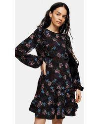 TOPSHOP - Tall Ruffle Heart Star Mini Dress - Lyst
