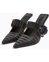 TOPSHOP Glitz Black Buckle Mules