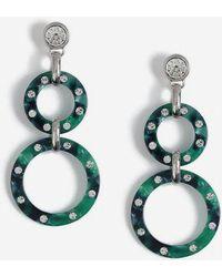TOPSHOP - Circle Link Drop Earrings - Lyst