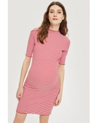 TOPSHOP - Maternity Striped Bodycon Dress - Lyst