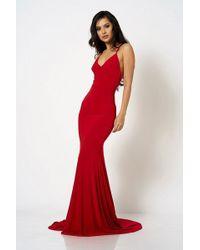 6bb820afe3a3 Club L - cross Back Fishtail Maxi Dress By London - Lyst