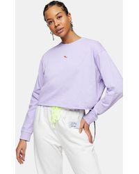 TOPSHOP Lilac Chilli Pepper Sweatshirt - Purple