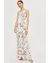 Hope and Ivy - open Back Fish Tail Maxi Dress By Hope & Ivy - Lyst