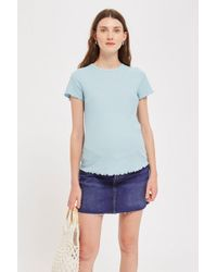 TOPSHOP - Maternity Waffle T-shirt - Lyst