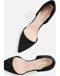 Miss Kg   Celina Black Mid Heel Shoes By   Lyst