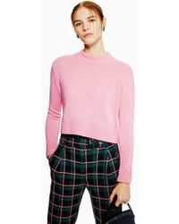 TOPSHOP - Ottoman Cropped Jumper With Cashmere - Lyst