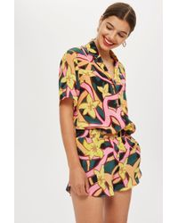 TOPSHOP - Scarf Print Pyjama Shirt By Boutique - Lyst