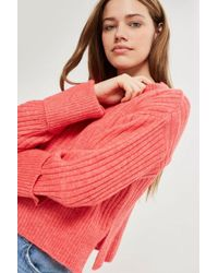 TOPSHOP - Cropped Sweater - Lyst