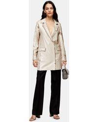 TOPSHOP - Robe blazer pailletée - Lyst