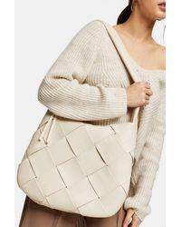 TOPSHOP Stone Woven Hobo Bag - Natural